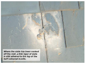 The Use Of Mastic With A Slate Roof